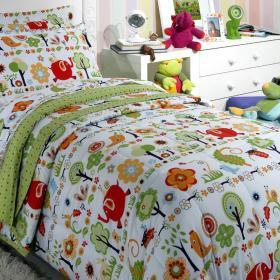 Kit: 1 Cobre-leito Solteiro Infantil + 1 Porta-travesseiro 150 fios - Alf - Kacyumara