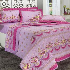 Kit: 1 Cobre-leito Casal + 2 Portas-travesseiro 150 fios - Ariela Lil�s - Dui Design