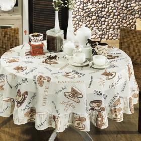 Toalha de Mesa Redonda 160cm - Aroma Bege - Dui Design