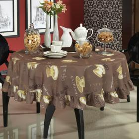 Toalha de Mesa Redonda 160cm - Aroma Caf� - Dui Design