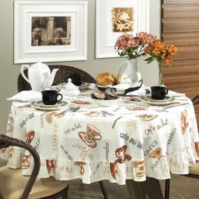 Toalha de Mesa Redonda 160cm - Aroma Natural - Dui Design