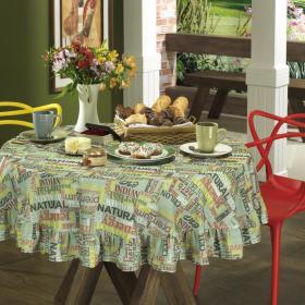 Toalha de Mesa Redonda 160cm - Aromatic Erva Doce - Dui Design