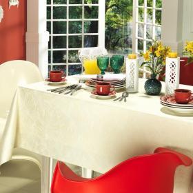 Toalha de Mesa F�cil de Limpar Quadrada 4 Lugares 160x160cm - Beverly Natural - Dui Design