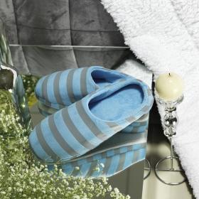 Par de Chinelo Pantufa de Microfibra (40 a 42) - Boris Azul - Dui Design