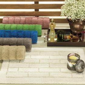 Tapete 40x60cm de algod�o com antiderrapante 1600g/m� - Brick - Dui Design