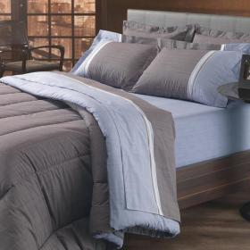 Kit: 1 Cobre-leito Casal + 2 Porta-travesseiros Casal Percal 180 fios - Brooke - Karsten