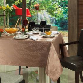 Toalha de Mesa F�cil de Limpar Quadrada 4 Lugares 160x160cm - Campo Amendoa - Dui Design