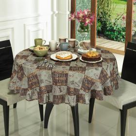 Toalha de Mesa Redonda 160cm - Capuccino Caf� - Dui Design