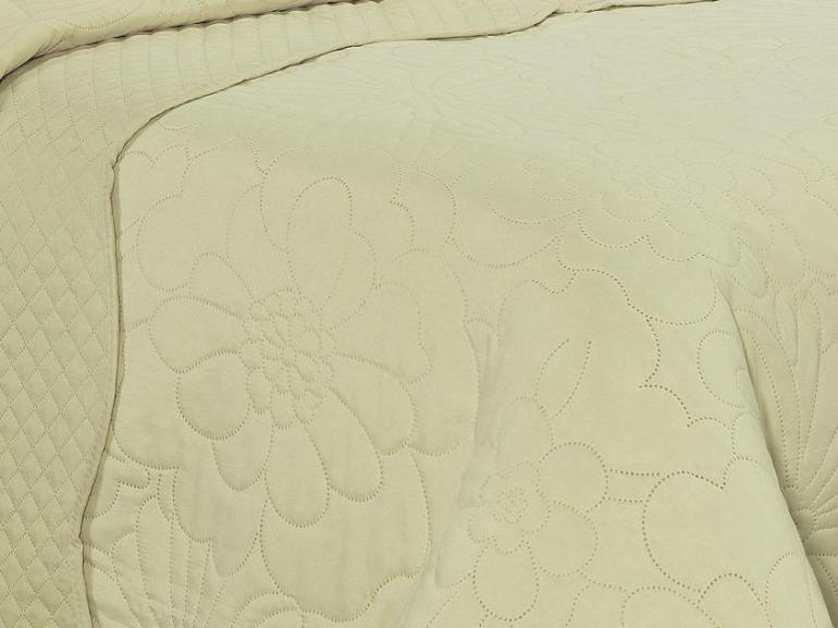 Kit: 1 Cobre-leito Casal Bouti de Microfibra Ultrasonic + 2 Porta-travesseiros - Carmo Champagne - Dui Design