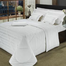 Edredom King Cetim de Algod�o 500 fios - Chesty Branco - Dui Design