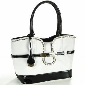 Bolsa Bicolor - Chic Branco e Preto - Velina Fabbiano