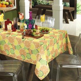 Toalha de Mesa Retangular 6 lugares 140x210cm - Citrus Laranja - Dui Design