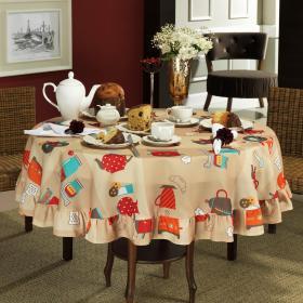 Toalha de Mesa Redonda 160cm - Cooking Caqui - Dui Design