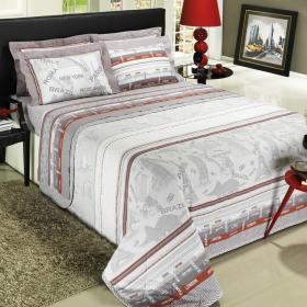Kit: 1 Cobre-leito Solteiro + 1 Porta-travesseiro Percal 200 fios - Cosmopolitan - Dui Design