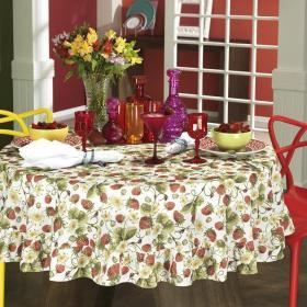 Toalha de Mesa Redonda 160cm - Del�cia Vermelho - Dui Design
