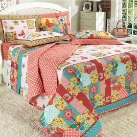 Kit: 1 Cobre-leito Solteiro + 1 Porta-travesseiro 150 fios - Dream Rosa - Dui Design