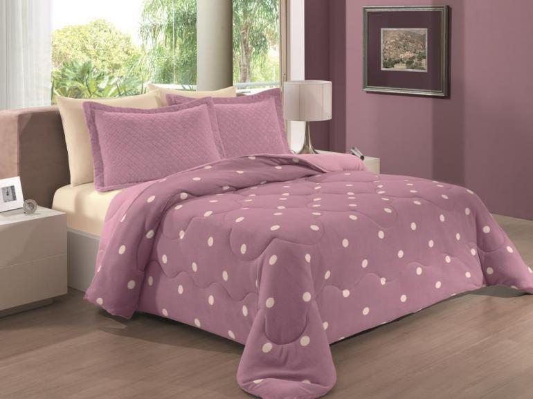 edredon rosa