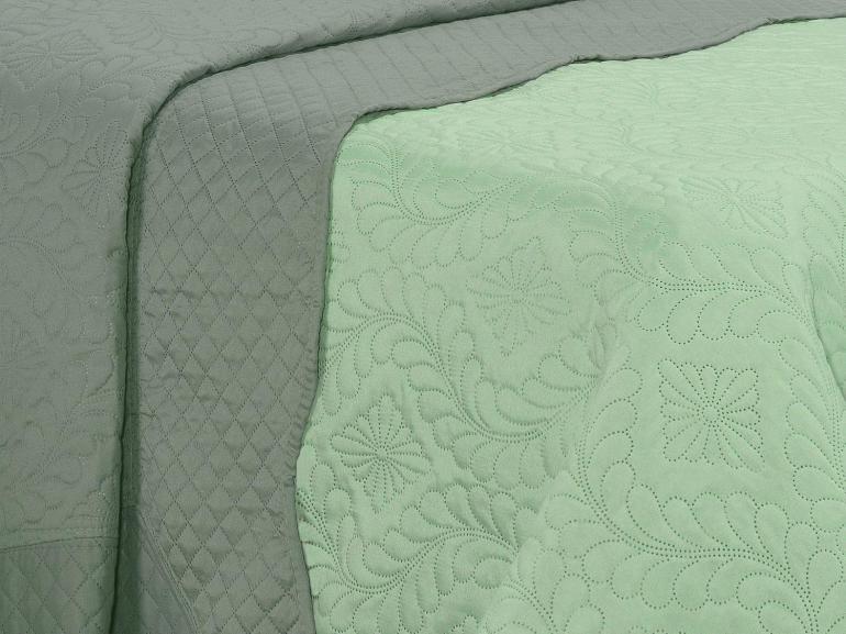 Kit: 1 Cobre-leito Casal Bouti de Microfibra Ultrasonic + 2 Porta-travesseiros - Ekos Confrei - Dui Design