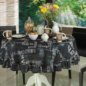 Toalha de Mesa Redonda 160cm - Expresso Preto - Dui Design