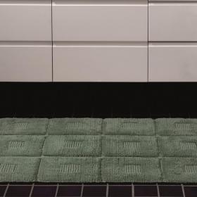 Tapete 50x70cm de algod�o com antiderrapante 1600g/m� - Grid - Kacyumara