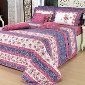 Edredom Casal Percal 180 fios - Holly Pink - Dui Design