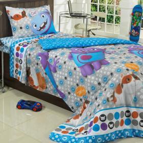 Jogo de Cama Solteiro Kids 100% Algod�o - Home Oh - Teka