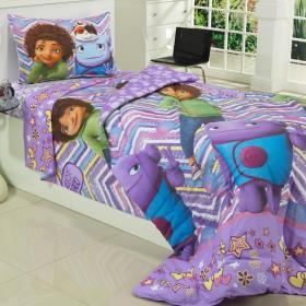 Jogo de Cama Solteiro Kids 100% Algod�o - Home Tip - Teka