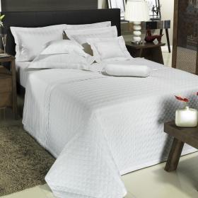 Enxoval Casal com Cobre-leito 7 pe�as Cetim 300 fios - Kansas Branco - Dui Design