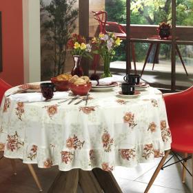 Toalha de Mesa Redonda 160cm - Lafaiette Bege - Dui Design