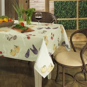 Toalha de Mesa Retangular 6 lugares 140x210cm - Legumes - Dui Design