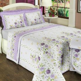 Edredom King Percal 200 fios - Leonor Lavanda - Dui Design