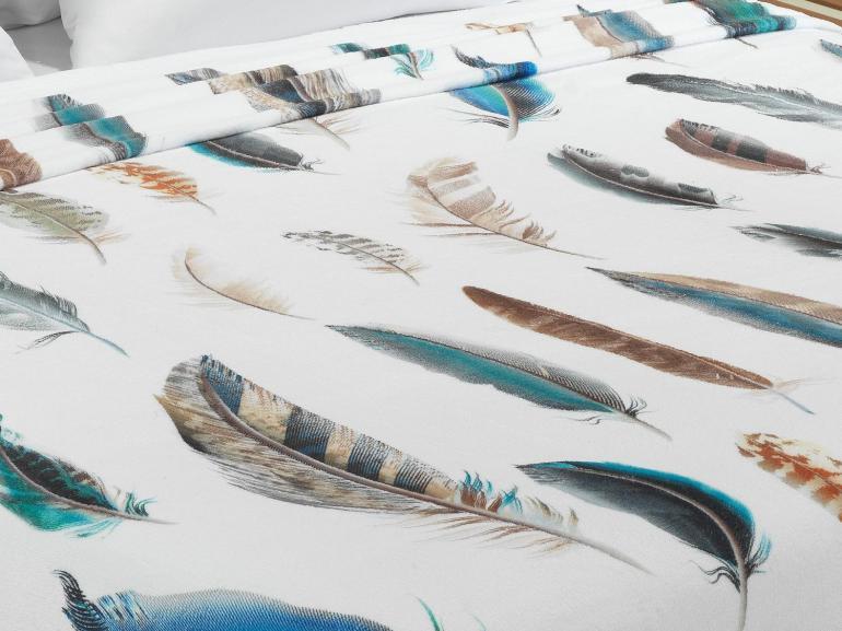 Cobertor Avulso Casal Flanelado com Estampa Digital - Leveza - Dui Design