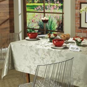 Toalha de Mesa F�cil de Limpar Quadrada 4 Lugares 160x160cm - Liberty Verde Sage - Dui Design