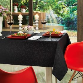 Toalha de Mesa F�cil de Limpar Quadrada 4 Lugares 160x160cm - Mallorca Preto - Dui Design