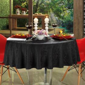 Toalha de Mesa F�cil de Limpar Redonda 160cm - Mallorca Preto - Dui Design