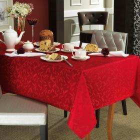 Toalha de Mesa F�cil de Limpar Quadrada 4 Lugares 160x160cm - Mallorca Vermelho - Dui Design