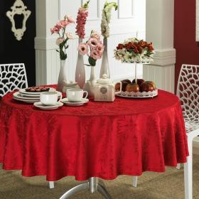 Toalha de Mesa F�cil de Limpar Redonda 160cm - Mandalay Vermelho - Dui Design