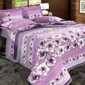 Kit: 1 Cobre-leito Casal + 2 Portas-travesseiro 150 fios - Mary Lil�s - Dui Design