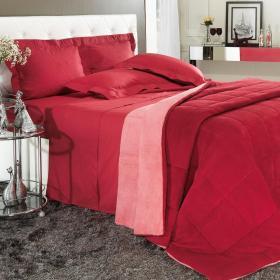 Edredom Plush King  - Maxy Vermelho Coral - Dui Design