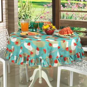 Toalha de Mesa Redonda 160cm - Melancia Acqua - Dui Design
