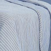 Kit: 1 Cobre-leito King + 2 Porta-travesseiros 150 fios - Mix Indigo - Dui Design