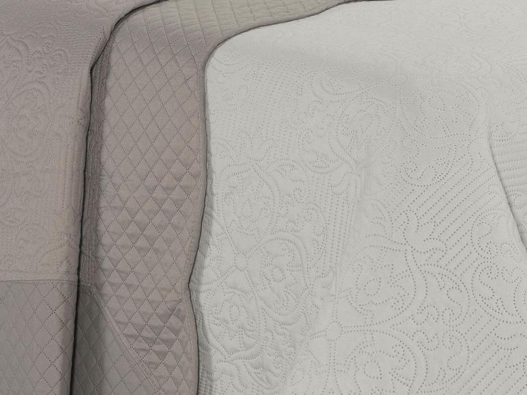 Kit: 1 Cobre-leito Queen Bouti de Microfibra Ultrasonic + 2 Porta-travesseiros - Palazzo Stone - Dui Design