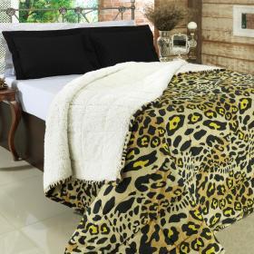 Cobredom Queen Pele de Carneiro - Sherpa Panther Ocre - Dui Design