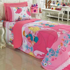 Edredom Solteiro Kids 100% algod�o - Princess Garden - Santista