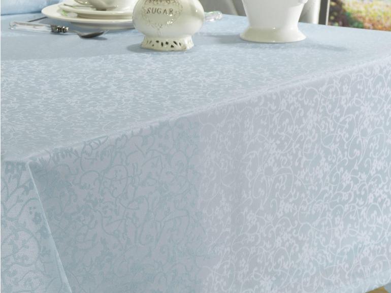 Toalha de Mesa Fácil de Limpar Retangular 6 Lugares 160x220cm - Polka Jeans - Dui Design
