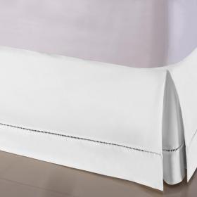 Saia para cama Box Queen - Ponto Palito Branco - Sultan