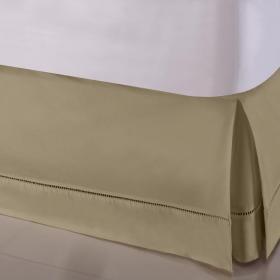 Saia para cama Box King - Ponto Palito Caqui - Sultan