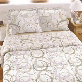 Kit: 1 Cobre-leito Casal + 2 Porta-travesseiros Percal 180 fios - Portland Branco - Karsten