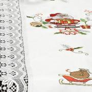 Trilho de Mesa Natal com Bordado Richelieu 45x170cm - Prosperidade Branco - Dui Design