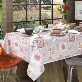 Toalha de Mesa Retangular 6 lugares 140x210cm - Provence Lil�s - Dui Design
